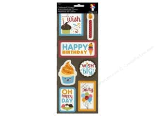 chipboard stickers: Imaginisce Stickers Hello Cupcake Chip Happy Day