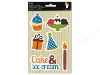 Rhinestones Birthdays: Imaginisce Stickers Hello Cupcake Canvas Cake