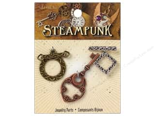 Solid Oak Finding Steampunk Clasps Toggle 3pc