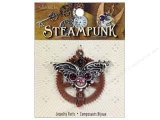 Solid Oak Pendant Steampunk Gear with Wings