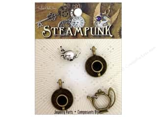 Solid Oak Charm Steampunk Tea Time 4pc