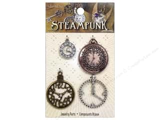 Solid Oak Charm Steampunk Clock 1 4pc