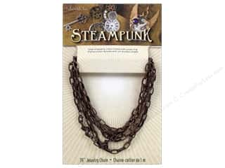 Solid Oak Chain Steampunk A 39&quot; Antique Copper
