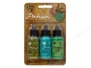 Stamping Ink Pads Beading & Jewelry Making Supplies: Ranger Vintaj Patina Kit Weathered Copper
