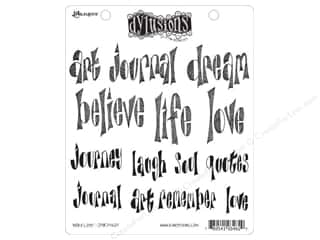 Ranger Dylusions Stamp Rubber Word Love