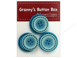 Buttons Blue: Buttons Galore Grannys Button Box Stitch Teal
