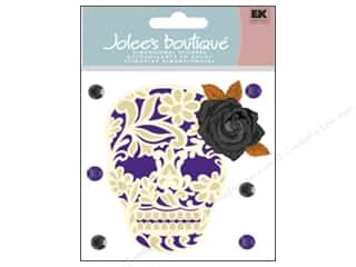 Jolee's Boutique Stickers Lacey Skull with Rose