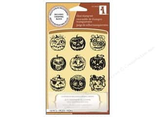 Inkadinkado InkadinkaClings Clear Stamp Inchies Pumpkin Faces