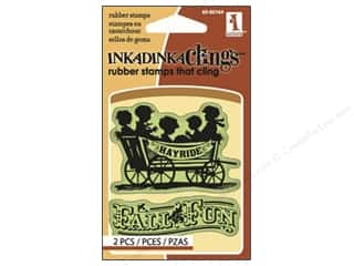 Inkadinkado Stamp Inkadinkaclings Mini Fall Fun Hayride