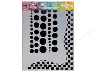 Ranger Dylusions Stencil 9x12 Chequered Dots