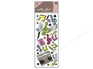 Music & Instruments paper dimensions: EK Sticko Stickers Functionality Music Rocks