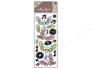 Music & Instruments Stickers: EK Sticko Stickers Flying Skulls