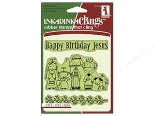 Inkadinkado Stamp Inkadinkaclings Happy Birthday Jesus