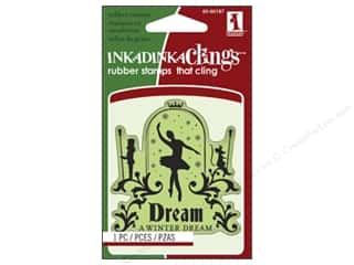Inkadinkado Cling Stamp Mini: Inkadinkado InkadinkaClings Rubber Stamp Mini Ballet Dream