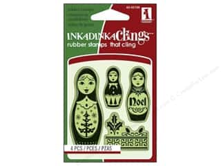 Inkadinkado Cling Stamp Mini: Inkadinkado Inkadinkaclings Stamp Mini Russian Dolls