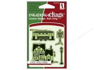 Inkadinkado Stamp Inkadinkaclings Mini Village Toys And Gifts