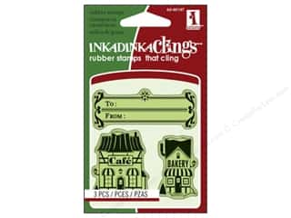 Inkadinkado Stamp Inkadinkaclings Mini Village Shoppes