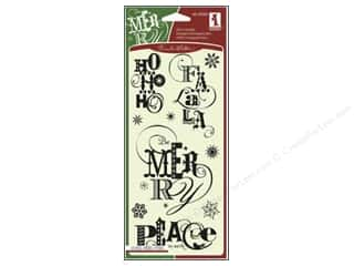 Inkadinkado InkadinkaClings Clear Stamp Christmas Sentiments