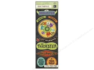chipboard stickers: K&Company Adhesive Chipboard Spooky