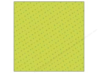 Clearance Blumenthal Favorite Findings: K&Company 12 x 12 in. Paper Spooky Foil Green Star (12 piece)