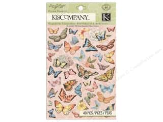 K&Co Sticker Pillow SW Floral Butterfly