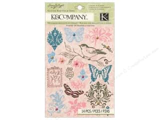 Rub-Ons Scrapbooking: K&Company Rub Ons With Gems Susan Winget Floral
