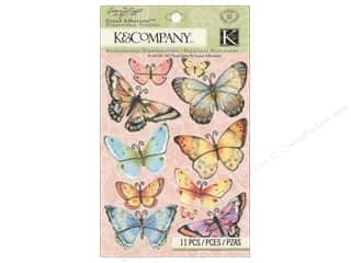 K&Co Grand Adhesions SW Floral Butterfly