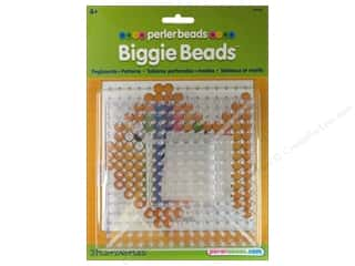 Perler: Perler Biggie Beads Pegboard Set 2 pc. Clear