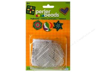 Funfusion Kid Crafts: Perler Pegboard Set Small Basic Shapes 5 pc. Clear