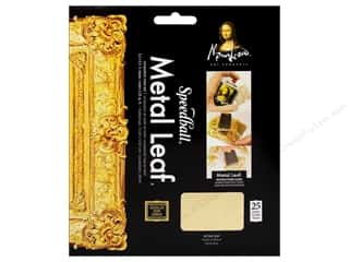 Mona Lisa Metal Leaf Sheets 25pc Composition Gold