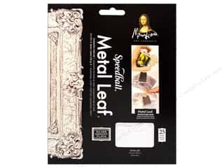 Mona Lisa Metal Leaf Sheets 25pc Composition Silvr