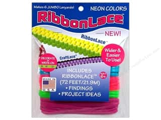 Kids Crafts Lanyard Braiding: Toner RibbonLace Value Pack Neon 72ft