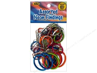 Clearance Blumenthal Favorite Findings Jump Rings / Spring Rings: Toner Accessory Findings Assorted Neon 80pc