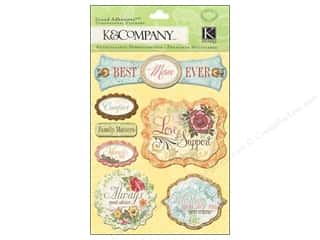 Mother's Day paper dimensions: K&Company Grand Adhesions Mom