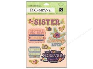 Sisters paper dimensions: K&Company Grand Adhesions Sister