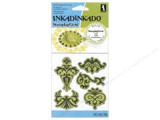 Rubber Stamps: Inkadinkado InkadinkaClings Stamp Ornament Designs