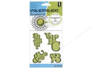 Clearance Plaid Stamps Clear: Inkadinkado InkadinkaClings Stamping Gear Typographic