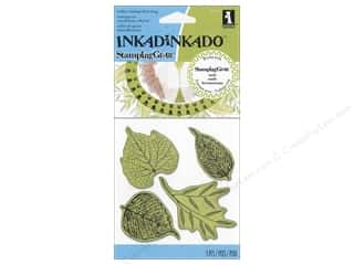 Inkadinkado Stamping Gear Cling Stamps Fossil Leaves