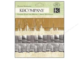 Borders Papers: K&Company Embellishments Beyond Postmarks Metallic Paper Borders