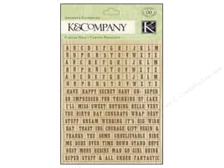Chipboard K&Co Adhesive Chipboard: K&Company Adhesive Chipboard Beyond Postmarks Letterpress Alphabet & Words