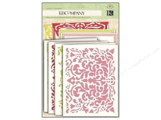 K&amp;Co Card &amp; Envelopes Beyond Postmarks Damask