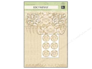 K & Company Note Cards: K&Company Card & Envelopes Beyond Postmarks Floral Die Cut