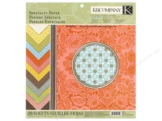Zig Clearance Patterns: K&Company Paper Pad Beyond Postmarks Specialty Letterpress