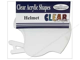 Plastics Sports: Clear Scraps Clear Album 7 1/2 x 7 in. Helmet