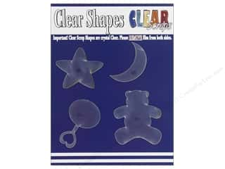 "Clear Scraps 12"": Clear Scraps Clear Shapes 4 pc. Baby"