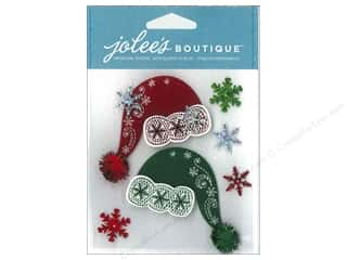Jolee's Boutique Stickers Lace Santa Hats