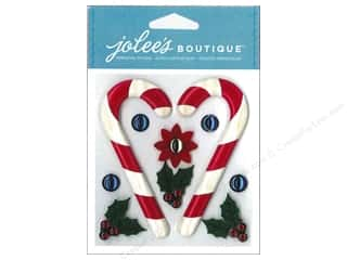 Jolee's Boutique Stickers Wooden Candy Canes