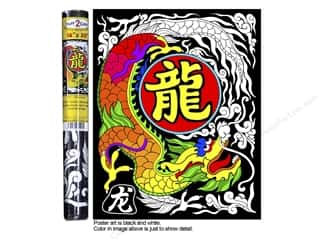 Stuff2Color Poster Velvet 16&quot;x20&quot; Chinese Dragon