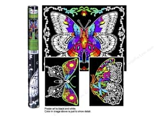 Stuff2Color Poster Velvet Multi Pack Butterfly 3pc