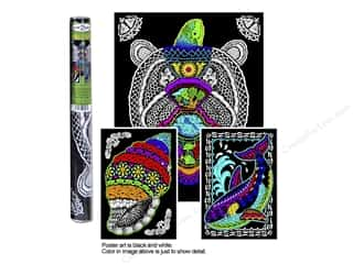 Stuff2Color Poster Velvet Multi Pk Geo Turtle 3pc